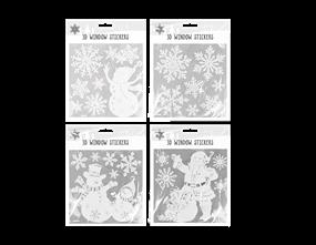 Wholesale 3D Christmas Window Stickers | Gem Imports Ltd