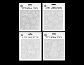 Wholesale Glitter Christmas Window Stickers | Gem Imports Ltd