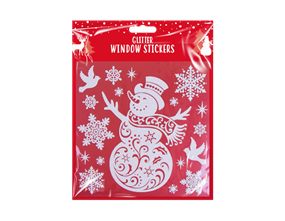 Wholesale Glitter Christmas Window Stickers | Gem Imports Ltd