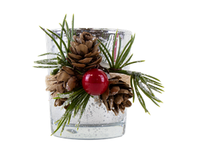 Wholesale Christmas Glass Candle Holders | Gem Imports Ltd