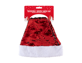 Wholesale Reversible Christmas Sequin Santa Hats | Gem Imports Ltd