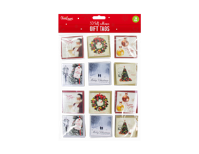 Wholesale Christmas 3D Self Adhesive Gift Tags | Gem Imports Ltd