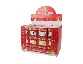 Wholesale Christmas Foil Gift Labels | Gem Imports Ltd