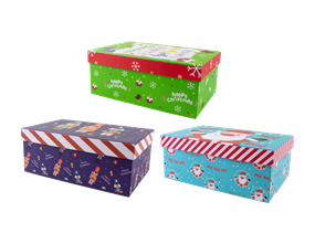 Wholesale Christmas Printed Rectangle Gift Boxes | Gem Imports Ltd