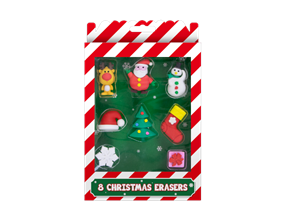 Wholesale Christmas Novelty Erasers | Gem Imports Ltd