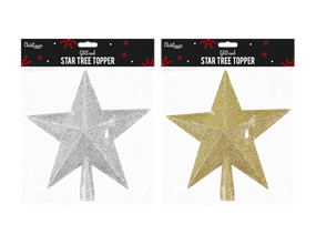 Wholesale Glittered Star Christmas Tree Toppers   Gem Imports Ltd