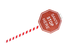 Wholesale Christmas Santa Stop Here Signs | Gem Imports Ltd