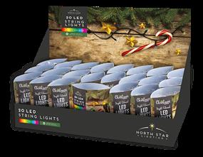 Wholesale Multi Coloured LED Christmas String Lights | Gem Imports Ltd