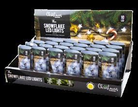 Wholesale Blue LED Christmas Snowflake String Lights | Gem Imports Ltd