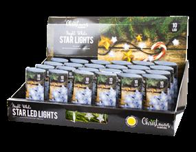 Wholesale White LED Christmas Star String Lights | Gem Imports Ltd