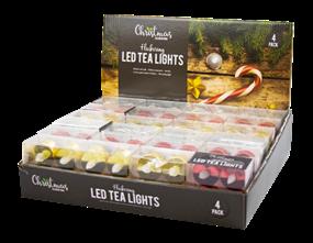 Wholesale LED Metallic Flickering Tea Lights | Gem Imports Ltd