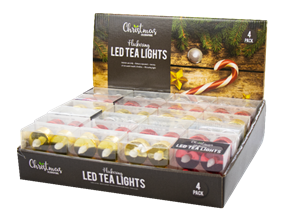 Wholesale LED Metallic Flickering Tea Lights | Gem Imports Ltd