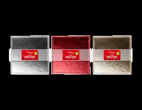 Wholesale Metallic Christmas Coasters | Gem Imports