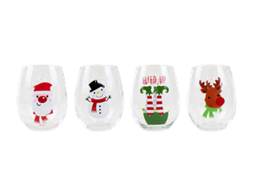 Wholesale Christmas Hand Painted Tumblers | Gem Imports Ltd