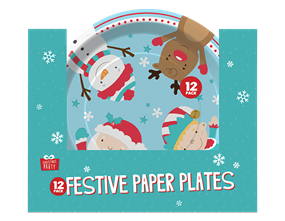 Wholesale Christmas Paper Plates | Gem Imports Ltd