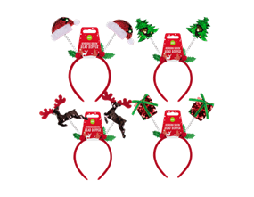 Wholesale Reversible Sequin Christmas Head Boppers | Gem Imports Ltd