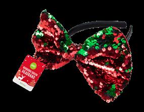 Reversible Sequin Bow Headband