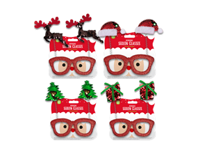 Wholesale Reversible Sequin Christmas Glasses | Gem Imports Ltd
