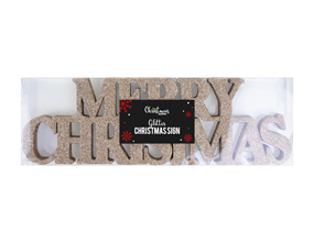 Wholesale Merry Christmas Glitter Signs | Gem Imports Ltd