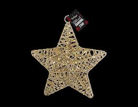 Wholesale Glittered Hanging Christmas Stars | Gem Imports Ltd