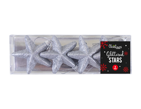 Wholesale Glittered Star Christmas Tree Decorations | Gem Imports Ltd