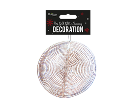 Wholesale Rose Gold Glitter Spinning Decoration | Gem Imports Ltd