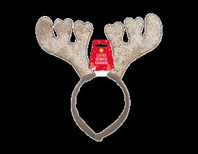 Wholesale Christmas Glitter Reindeer Headbands | Gem Imports Ltd