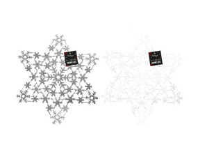 Wholesale Silver & White Glitter Snowflake | Gem Imports Ltd
