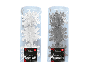 Wholesale Silver & White Hanging Snowflakes | Gem Imports Ltd