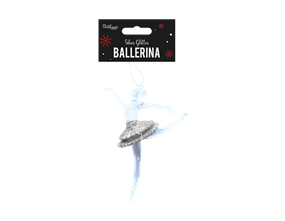 Wholesale Silver Acrylic Ballerina Decoration | Gem Imports Ltd
