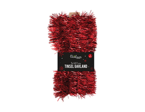 Wholesale Red Tinsel Garlands | Gem Imports Ltd