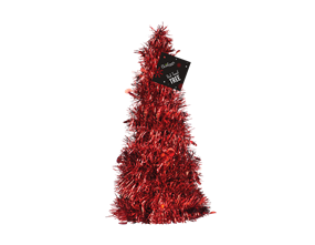 Wholesale Red Tinsel Tree | Gem Imports Ltd