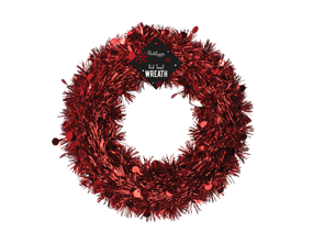 Wholesale Red Tinsel Wreaths | Gem Imports Ltd