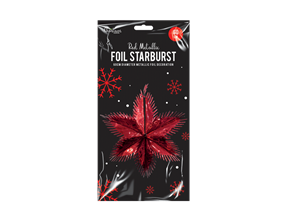 Wholesale Red Foil Starbursts | Gem Imports Ltd