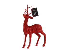 Wholesale Red Glittered Stags | Gem Imports Ltd