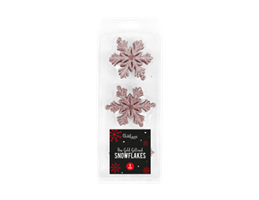 Wholesale Rose Gold Glittered Christmas Snowflakes | Gem Imports Ltd