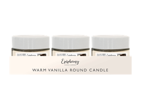 Wholesale Creamy Vanilla Round Candle Jars   Gem Imports Ltd