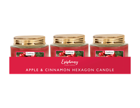 Wholesale Apple & Cinnamon Hexagon Candle | Gem Imports Ltd