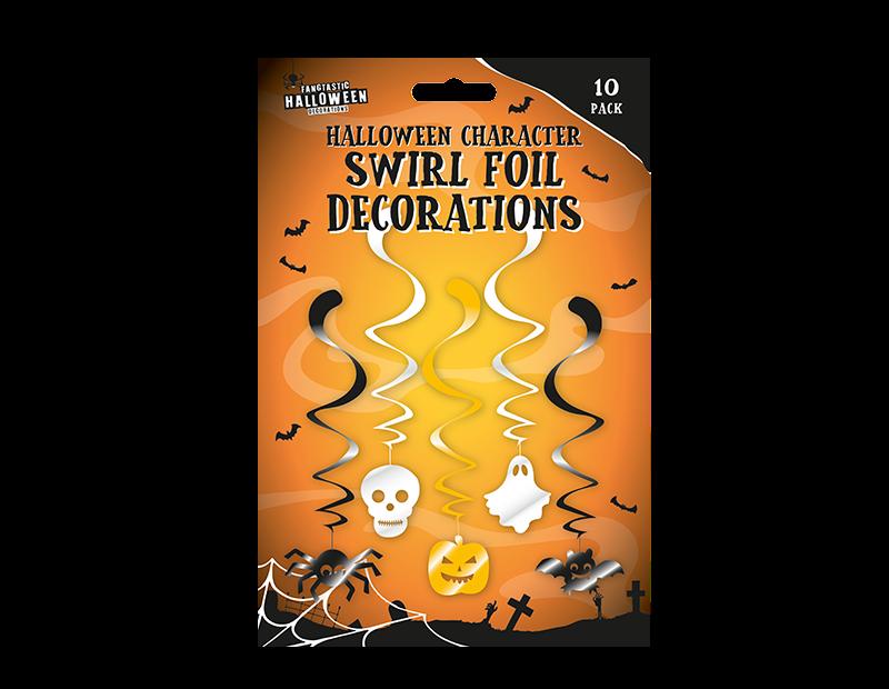 Halloween Character Swirl Decorations - 10 Pack