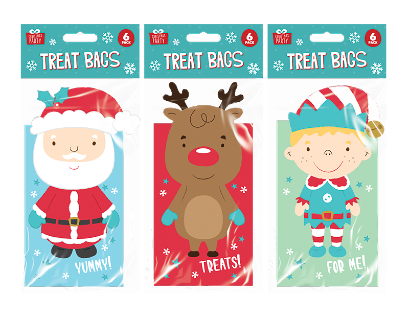 3D Character Treat Bags 6 Pack