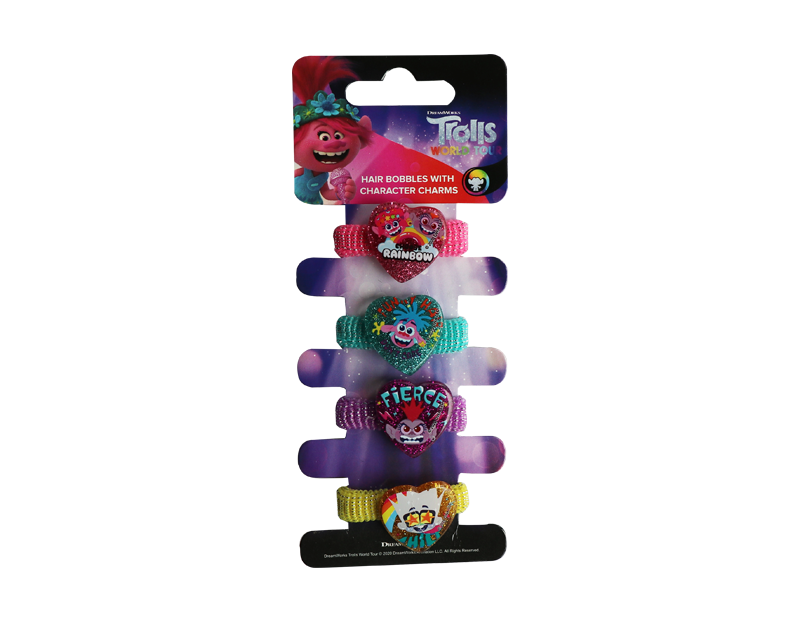 Trolls Hair Bobbles With Charms - 4 Pack