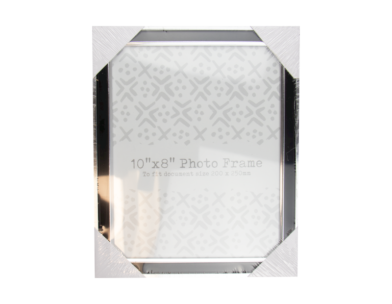 "Black & Silver Photo Frame 10"" x 8"""
