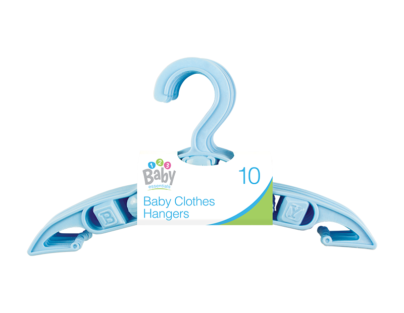 Blue Baby Clothes Hangers - 10 Pack