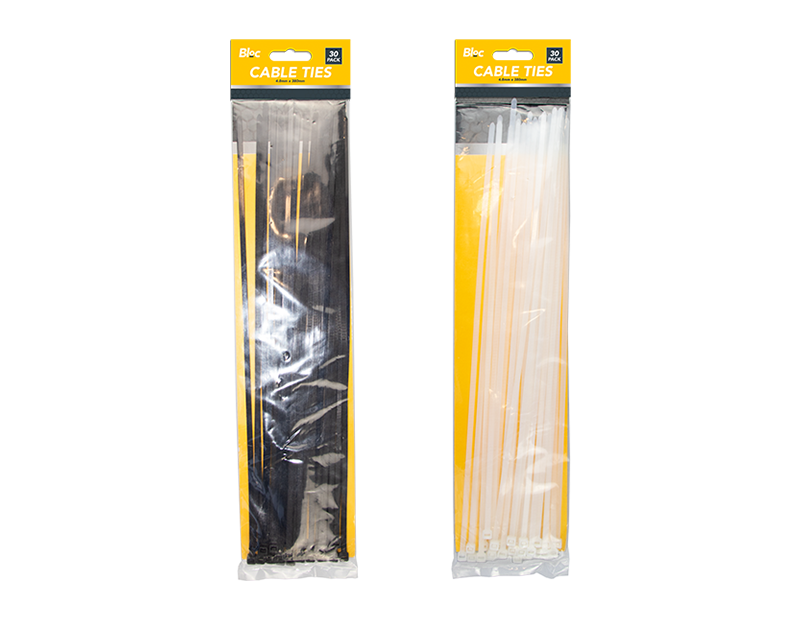 Cable Ties 4.8mm x 380mm - 30 Pack