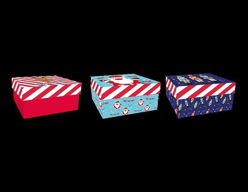 Christmas Rectangle Gift Box 22cm x 14cm