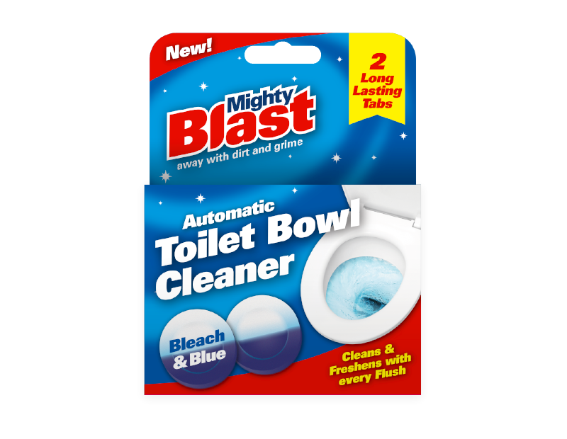 Toilet Bowl Cleaner Tablets - 2 Pack with PDQ