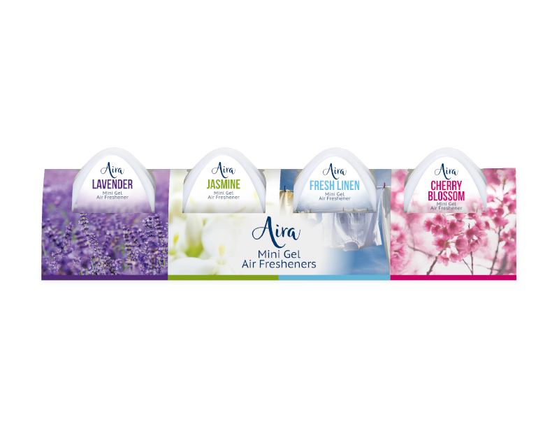 Mini Gel Air Fresheners - 4 Pack
