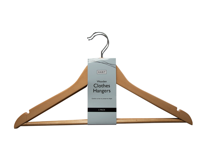 Wooden Hangers - 2 Pack
