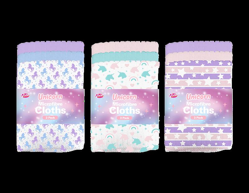 Unicorn Microfibre Cloths - 3 Pack