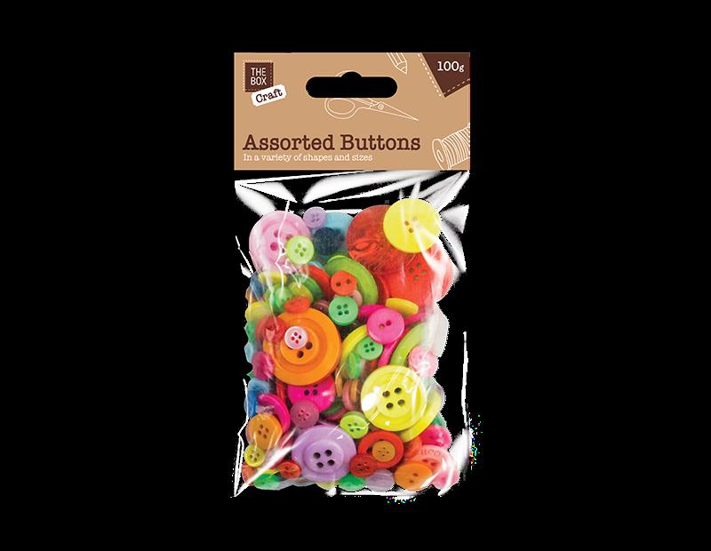 Craft Buttons 100g